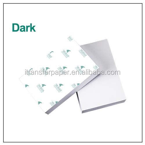 Dark heat transfer paper for heat transfer printing dark fabric using inkjet printer