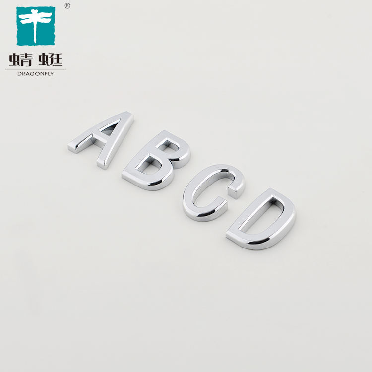 3D Plastic Chromed letter Door Numbers PLASTIC HOUSE NUMBER