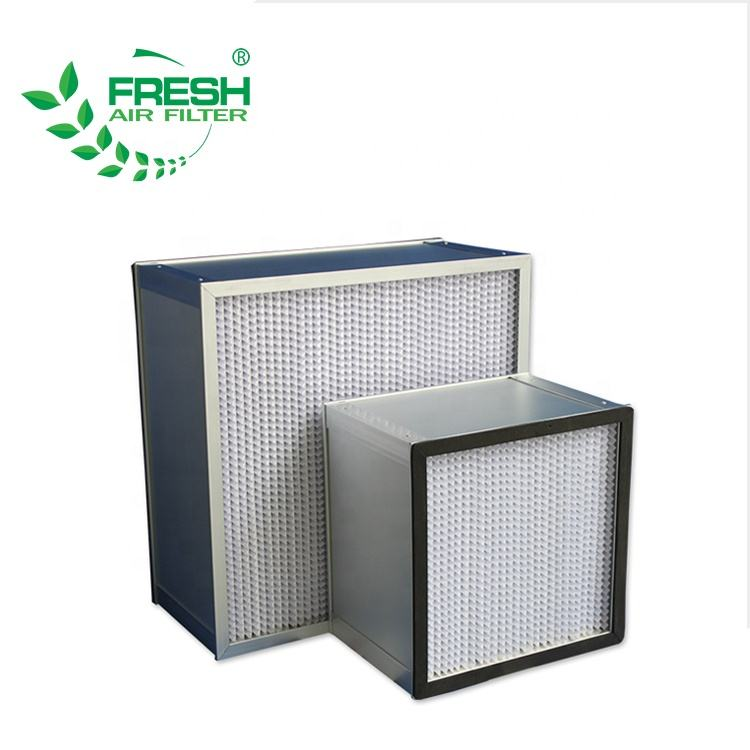 FRS-HD Aluminum frame 99.99% H13 fiberglass paper 0.5 um deep pleat HEPA filter