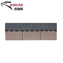 Roofing Shingle Material Autumn Brown Color Bitumen Tiles