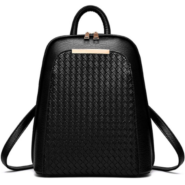 vegan leather water resistant fancy backpack for teenage girls