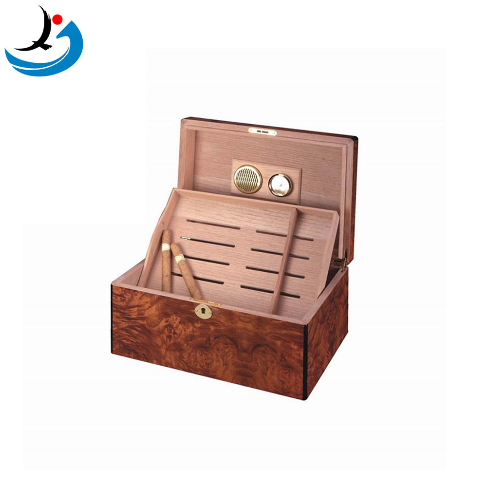 Factory Wholesale Custom Wooden Cigar Humidor Box With Humidifier
