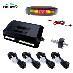 03 Car Auto Parktronic Led Parking Sensor With 4 Sensor Reverse Backup Vehicle Radar Monitor Detector System Backlight Display