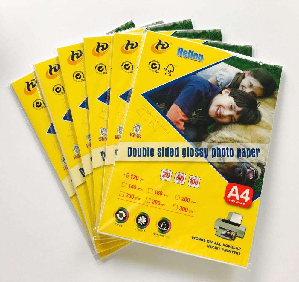 High glossy photo paper a4 inkjet <span class=keywords><strong>papel</strong></span> <span class=keywords><strong>fotográfico</strong></span> dupla face A4 180gsm <span class=keywords><strong>papel</strong></span>