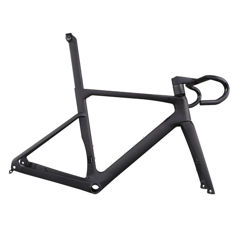 super light front 160mm rear 140mm disc rotor Full Carbon Road Bike Frame with Disc Brake Flat Mount