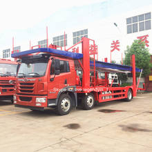 CLW newest 4x2 6x2 6x4 6 car truck transport hydraulic double layers car carrier truck with low price for sale