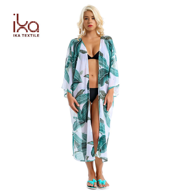 Beach Chiffon Cardigan Kimono Summer Swimsuit Coverups for Women