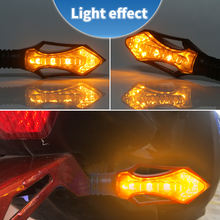 2835 12smd Flowing Lights  Motorcycle Turn Signal Indicators Sequential Blinkers Flashers Flexible Bendable Amber Light