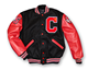 Winter America college varsity stylish black and red leather baseball jacket