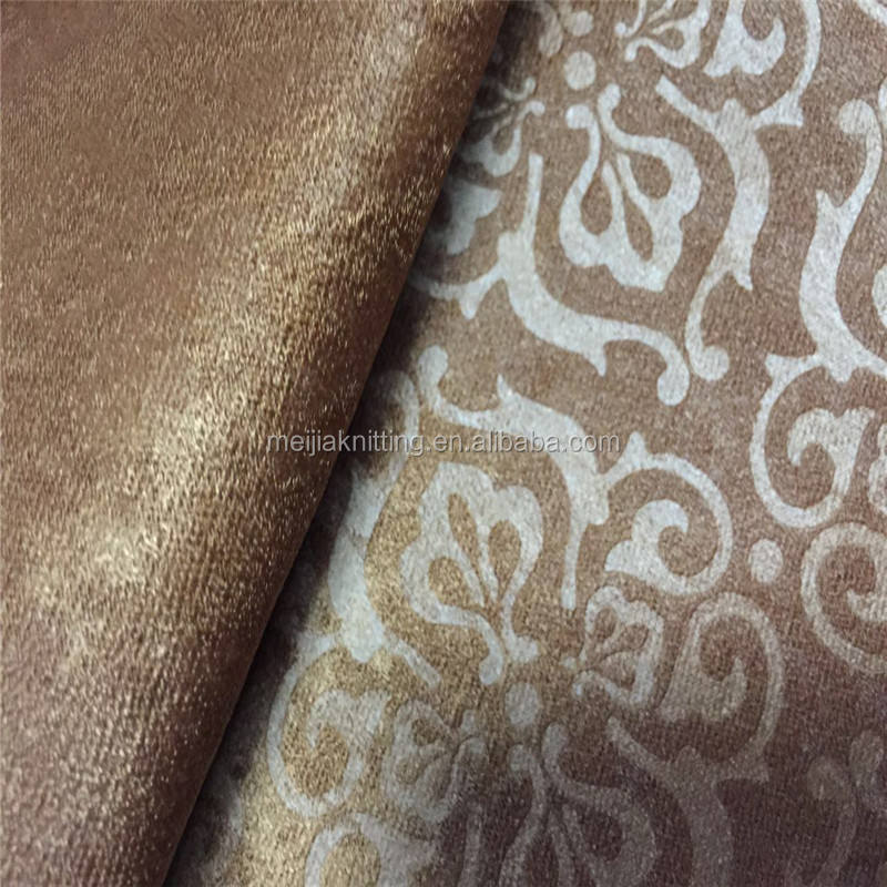 Cheap 100%polyester dyed velvet with normal embossed for sofa