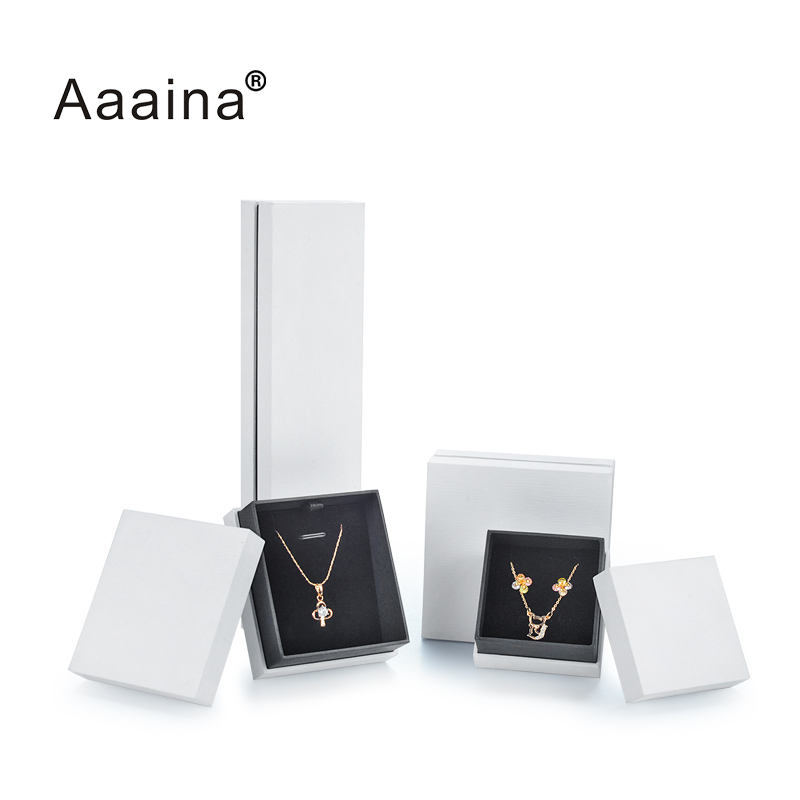 Silver Earring Gift Box White Paper Cover Best Price High Quality Bracelet Jewelry Packign Box