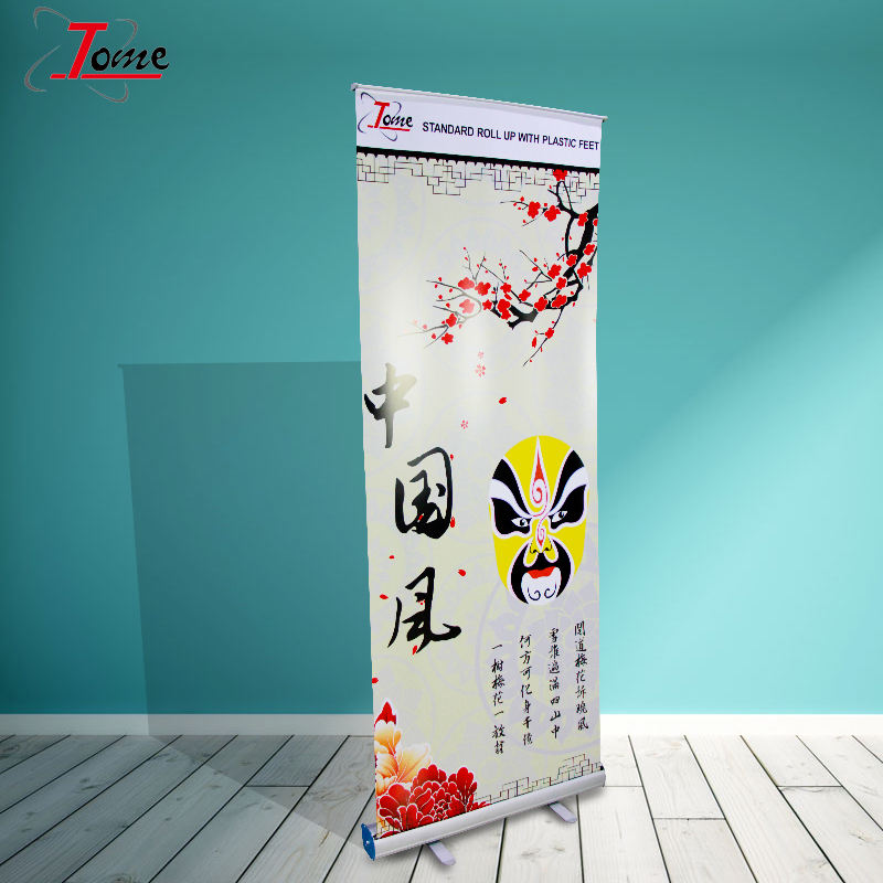 Innovatieve pull up StandPromotion Roll up Banner, Aluminium Roll up stand Intrekbare banner stand