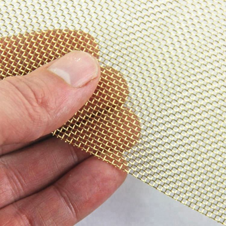 Faraday cage 40 50 80 100 mesh H65 brass wire mesh cloth