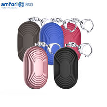 Amazon top selling self defense alarm new LED light mini personal alarm keychain for women panic alarm