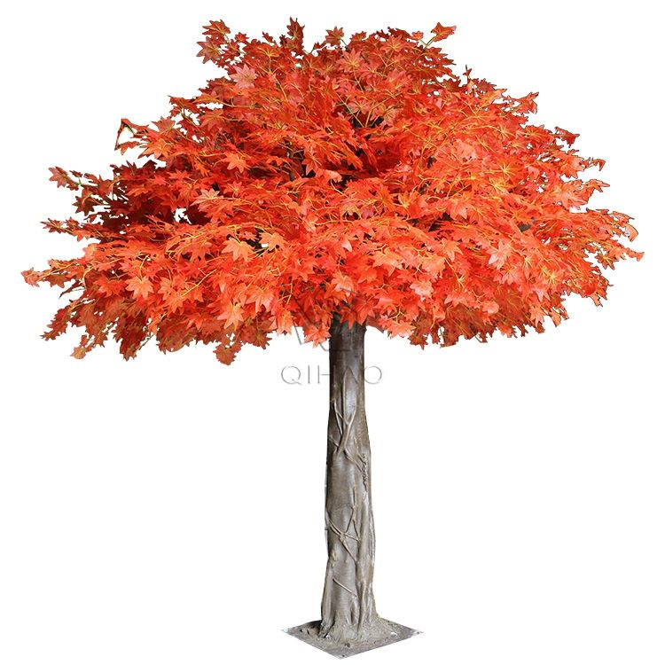 Factory Customized Outdoor Artificial Big Maple Tree For Landscaping