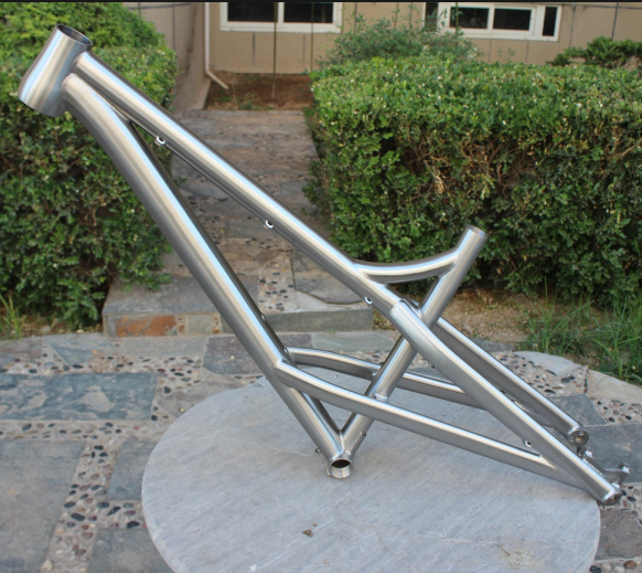 Ti Bike Frame Titanium MTB Bike Frame With Thru Axle Dropout Titanium Mountain Bike Frame With Taper Head Tube Ti Bike Frame Custom