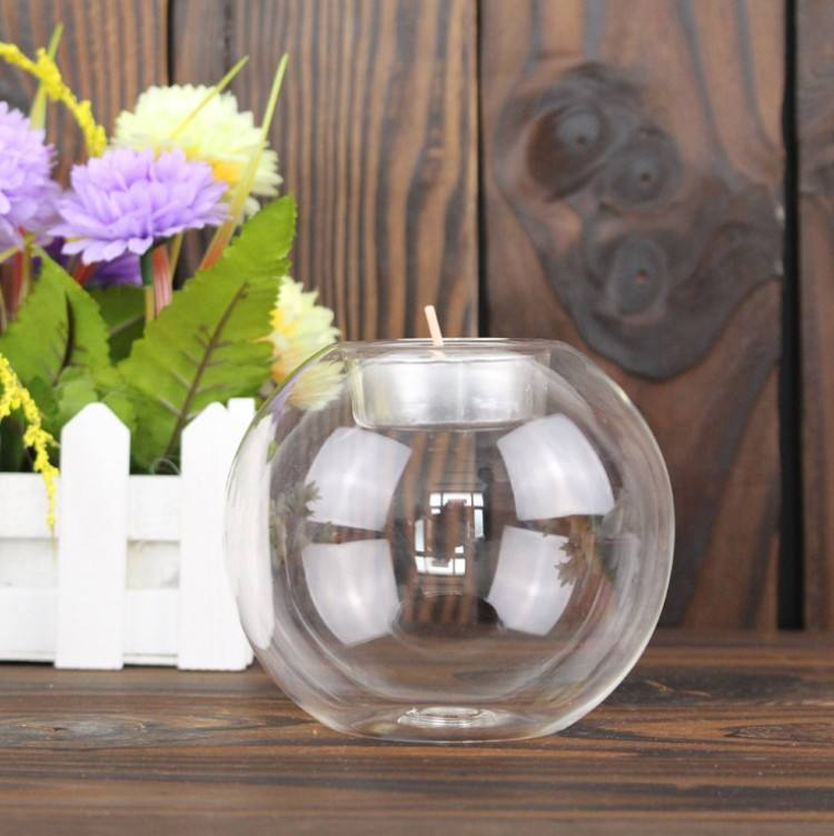 JHROC06 Custom Factory Supply Round Shape Borosilicate Glass Votive Candle Holder