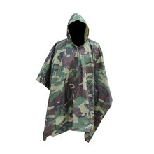 Factory Direct Selling Camouflage Jungle Hunt Adult Rain Poncho, Waterproof Outdoor Riding Military Raincoat