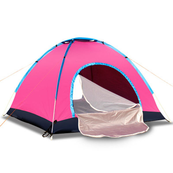 Manufacturer Supplier pink camping tent 3-4 person portable awning camping waterproof lightweight beach tent