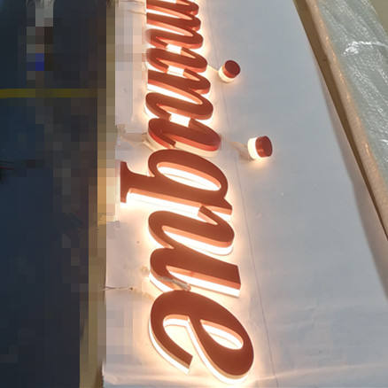 Channel reverse lighted partial side lit Letters