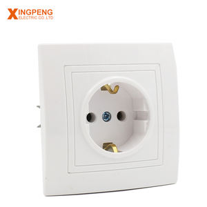 2018 eu type abs panel oem schuko socket 16a 250av electric outlet