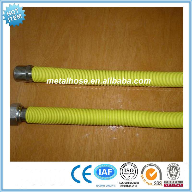Manguera de conexión de gas de metal flexible de alta presión de gas natural para uso doméstico