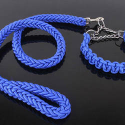 Large Dog Nylon Rope Leash and Collar Strong Dog Leashes