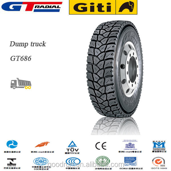 295/80R22.5 GT686 China Dump Truck tire GT Radial Brand