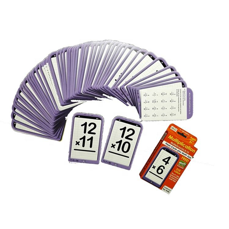 WJPC-Factory Price Wholesale Math Flash Cards Multiplication Learning Cards