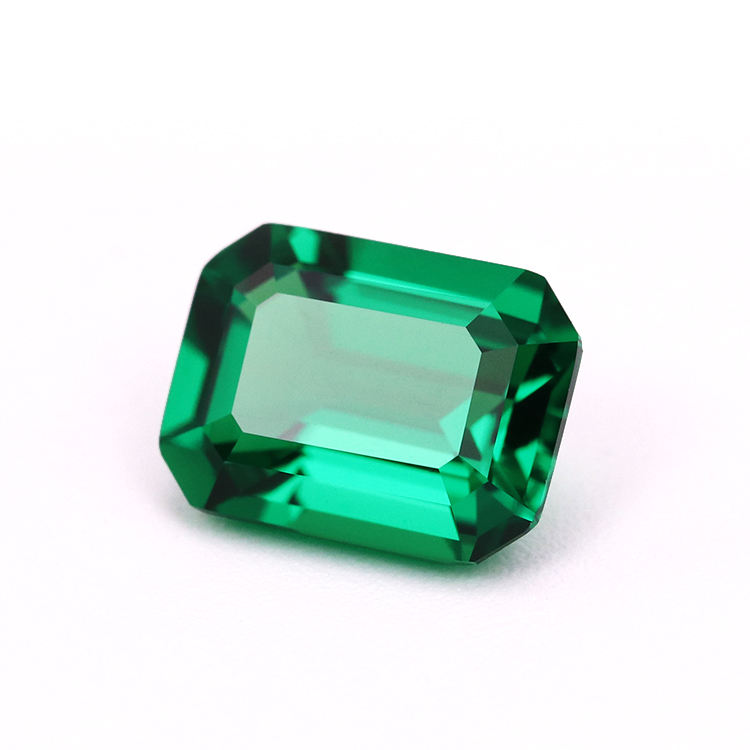 WuZhou Gems Wholesale AAA Quality Emerald Cut Green Nano Emerald Loose Nano