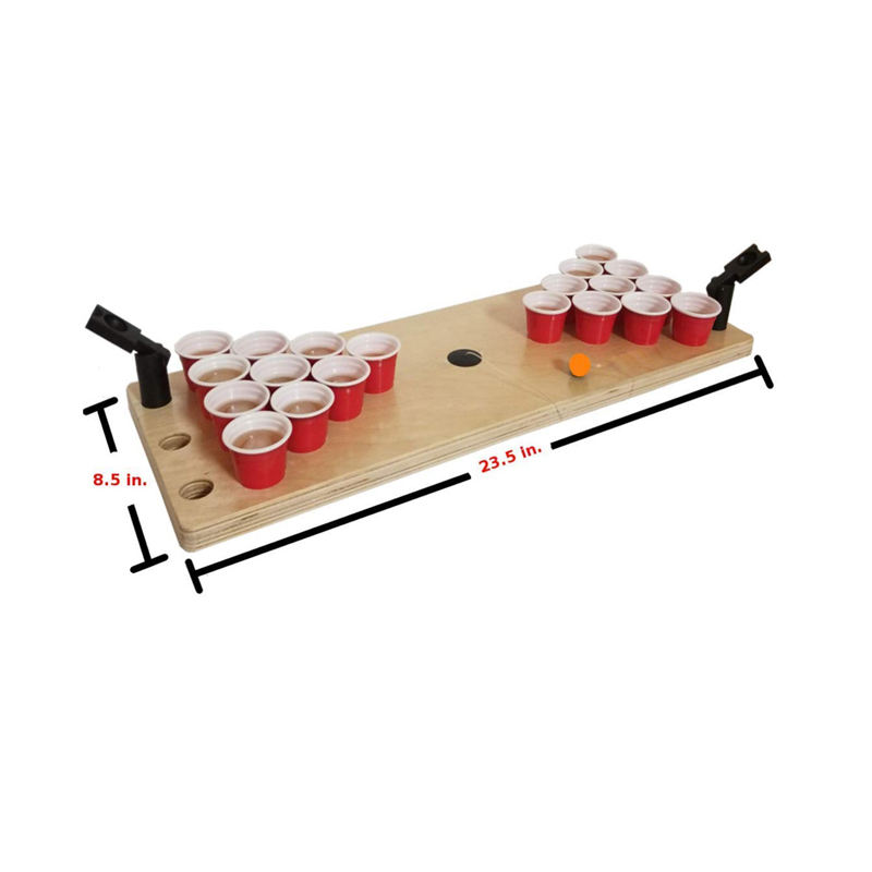 Drinking Game Bring The Party Anywhere Game Mini Beer Pong Table