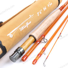 Wholesale high carbon fiber glass fiberglass transparent fly fishing rod