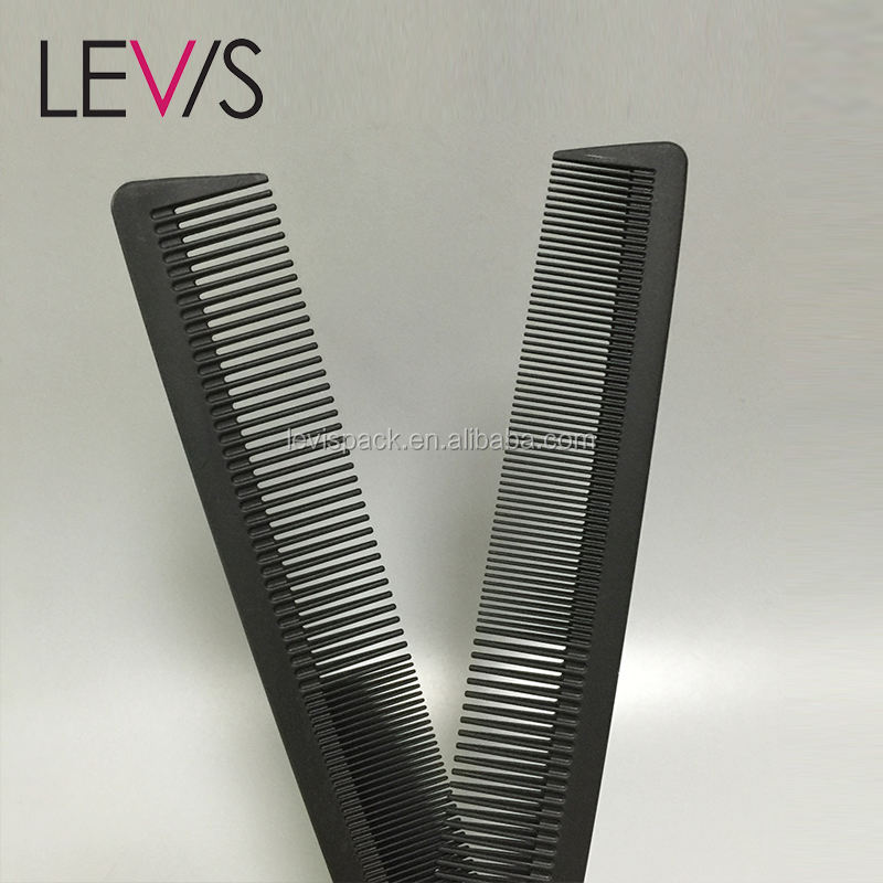 Carbon fiber long handled antistatic comb for hair highlight plastic skeleton brush