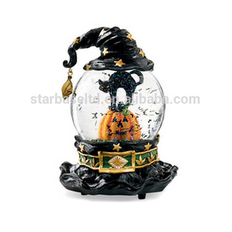 Halloween pumpkin witch hat resin salju dunia