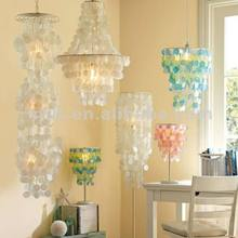 2018 bset Christmas gifts round capiz shell chandelier for decoration