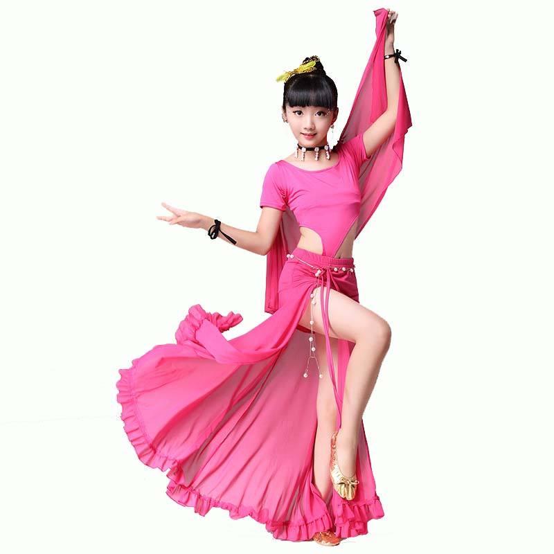 Bauchtanz Kleidung Kostuem Bauchtanz Set indischen Tanz Kleidung 2 Stueck Obe KD