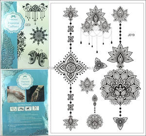 Fashion Kant Flash Tattoo Sticker 15*21 Cm Waterdicht Henna Tattoo J019