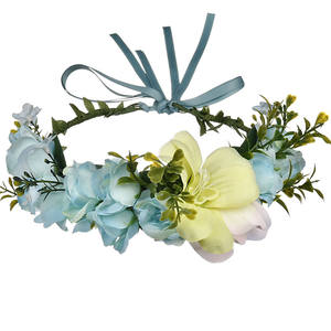 Wreath Wedding Beach Floral Headband Cheap Artificial Flower Girl Crown