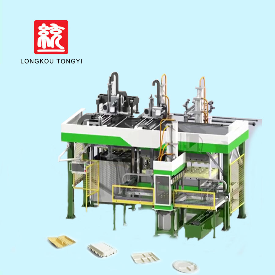 Fully Automatic Pulp Molding Production Line Bagasse Lunch Box Tableware Machine