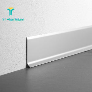 Aluminio zócalo perfil 80mm decorativo pared zócalo Protector de Skirting Board