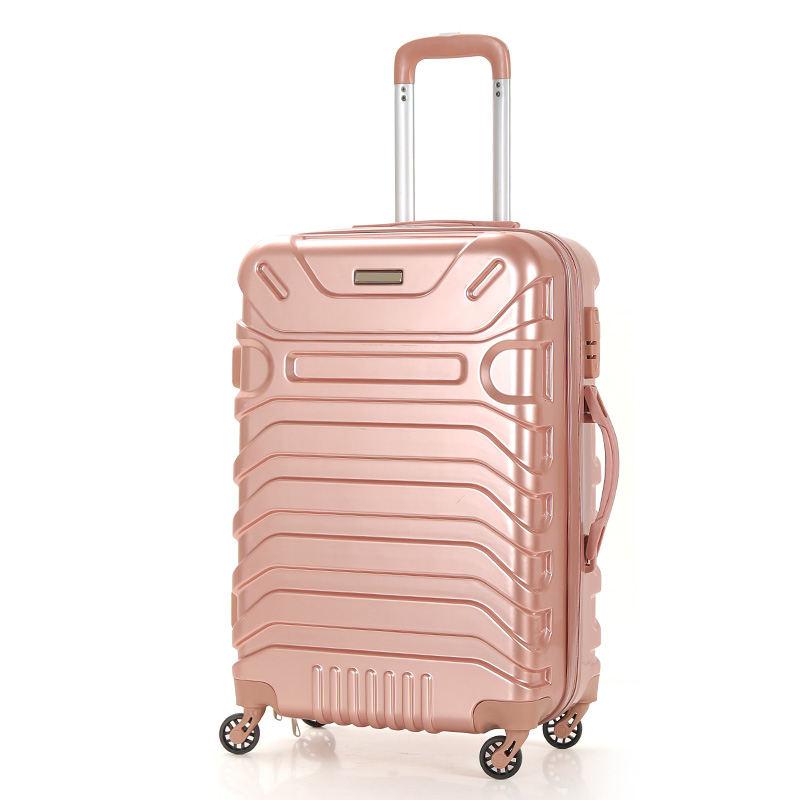 卸売abs pcのトロリー旅行荷物ユニークな旅行荷物スピナー荷物カバー