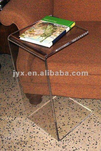 Elegant Acrylic C shape end table .with 15 1/2'' L*12''W*26''H