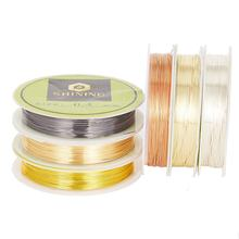Factory Permanently Colored Craft Copper Wire For Jewelry Accessories Making 925 Silver Plated Copper Wire