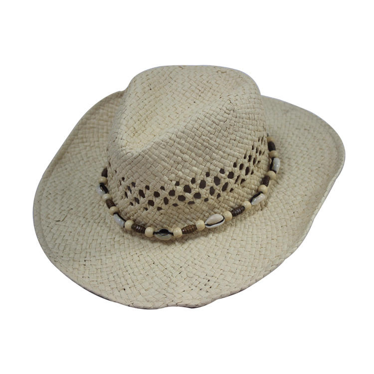 Manufacturer high quality promotional custom straw cowboy hat wholesale