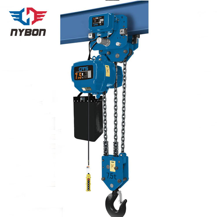 Overhead traveling chain lifting 3 ton hoist crane