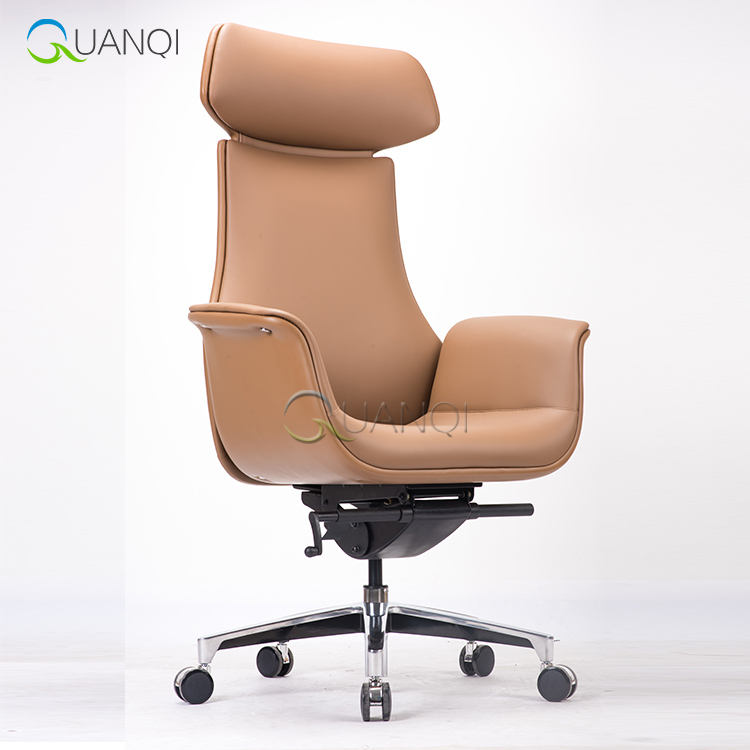 foshan furniture market italian leather executive office chairs/genuine leather office chair high back