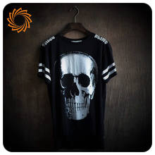 wholesale promotional 3d digital unisex skull printed t-shirt