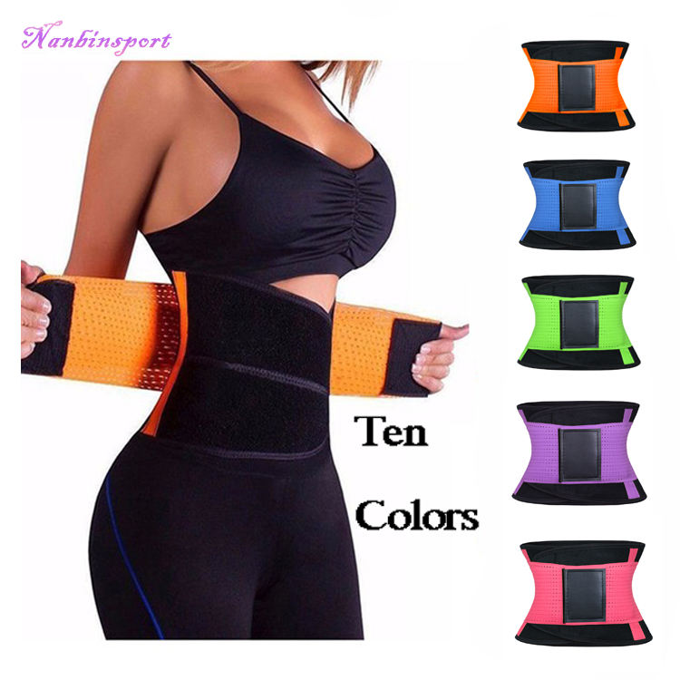 NANBIN 10 Colors Free Custom Waist Trimmer Belt Sweat Waist Trainer Slim Belt