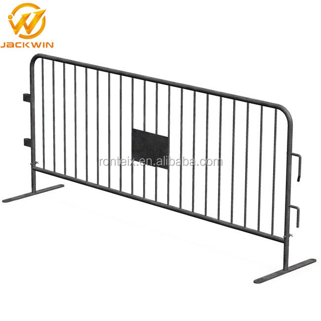 Road Security Temporary Barrier Galvanized Crowd Control Steel Barrier
