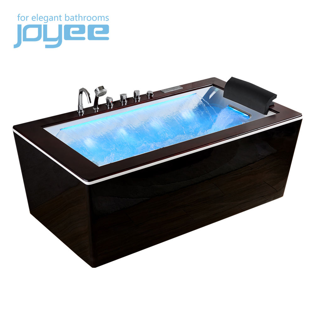 Joyee <span class=keywords><strong>Zwart</strong></span> Acryl <span class=keywords><strong>Hout</strong></span> Top Kleine Led Moderne Nordic Europa Spa Massage <span class=keywords><strong>Bad</strong></span> Whirlpool <span class=keywords><strong>Bad</strong></span> Voor Appartement